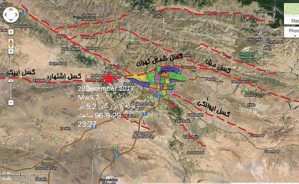 گسل های اصلی تهران