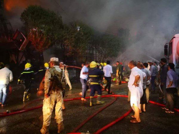 آتشسوزی در 50 متری حرم امام حسین(ع)