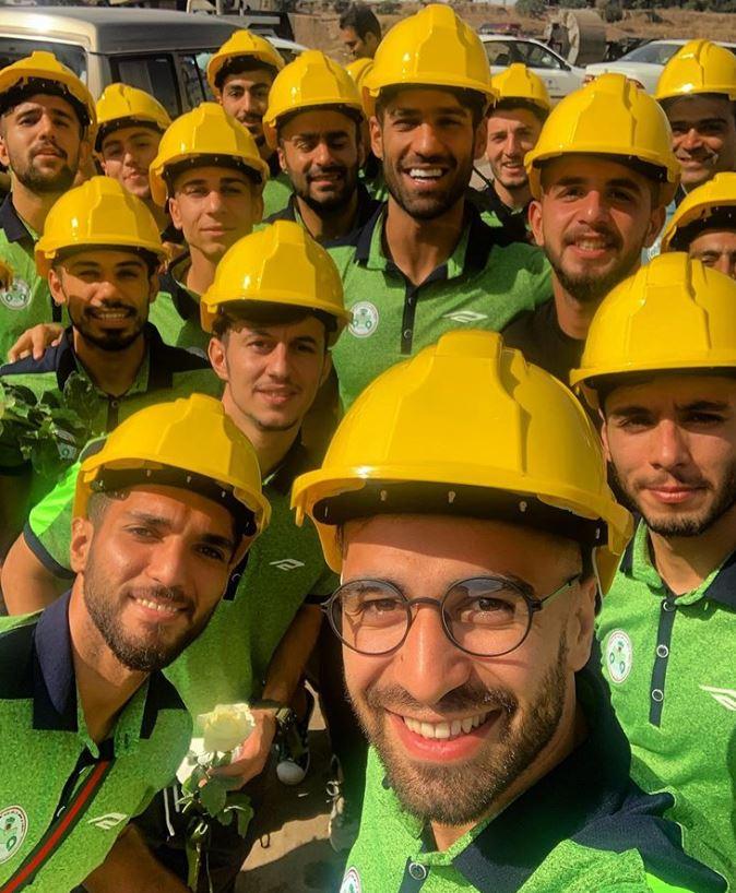 بازدید بازیکنان ذوب آهن از کارخانه