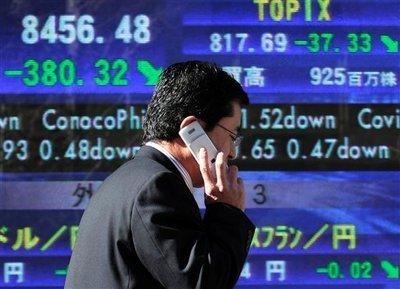 کاهش شاخص کل بورس آسیا