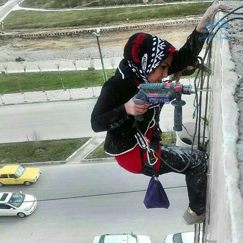 شغل مردانه و خطرناک این بانوی ایرانی