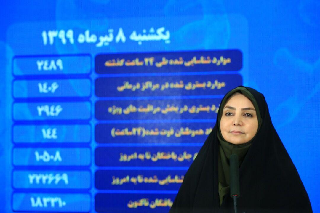 سیماسادات لاری، سخنگوی وزارت بهداشت