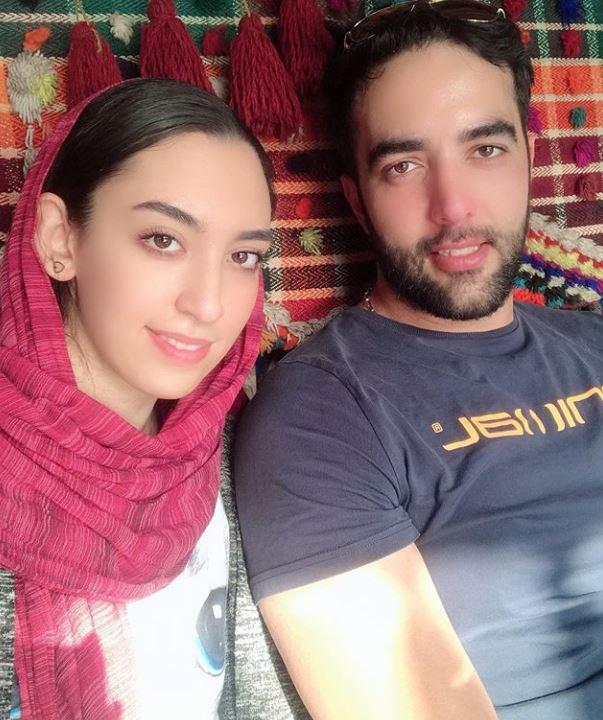 کیمیا علیزاده و همسرش