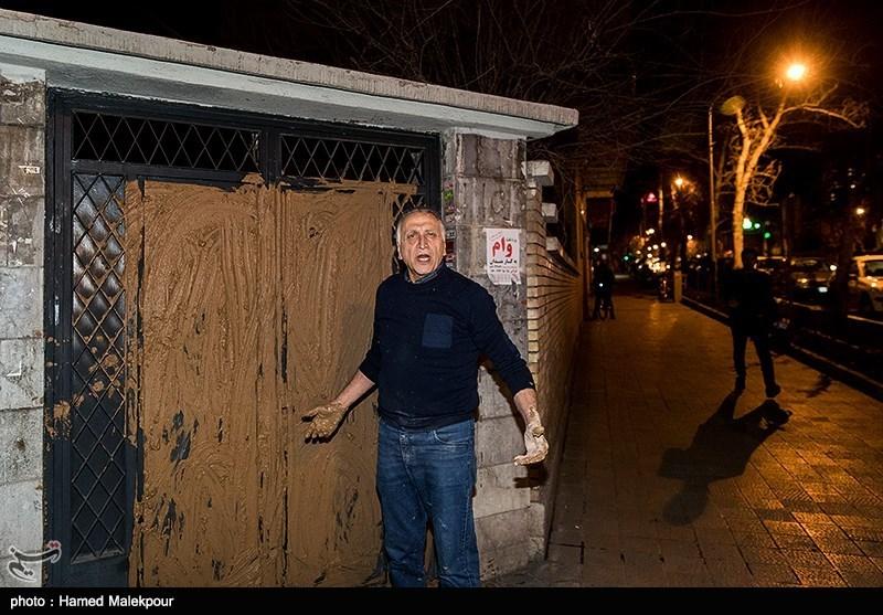 گل گرفتن در خانه سینما توسط احمد نجفی