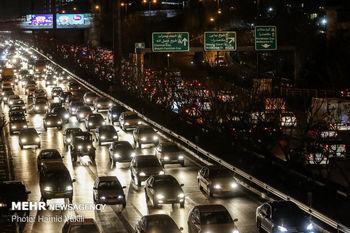 ترافیک سنگین در آزادراه تهران- پردیس