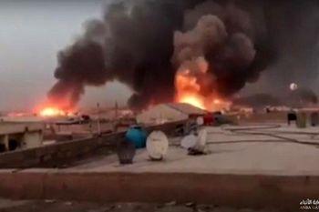 """واکنش وزیر دفاع عراق به آتشسوزی در پایگاه هوایی """"بلد"""""""