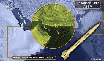موشک ذوالفقار بصیر خلیج فارس را برای نیروهای آمریکا ناامن کرد + عکس