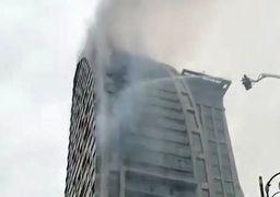 برج ترامپ آتش گرفت + عکس