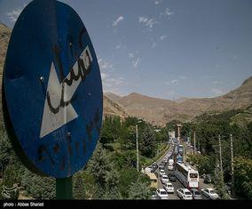 ترافیک سنگین در جاده چالوس و اتوبان قزوین