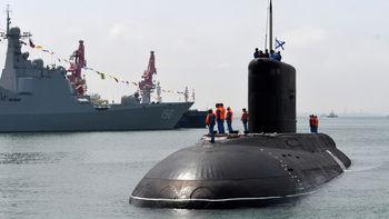 رزمایش دریایی بزرگ چین در زمان عبور ناوهای آمریکایی