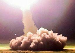 عکس زیبا و مقتدرانه از لحظه شلیک موشک به سمت دیرالزور سوریه