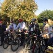 دوچرخه سواری شهردار تهران با 4 سفیر اروپایی+ عکس