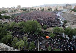 تصاویر سخنرانی حسن روحانی در مشهد