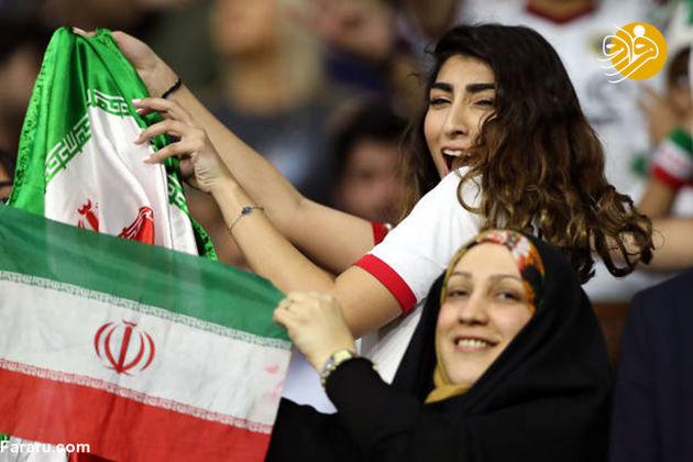 تماشاگران ایرانی بازی با عراق