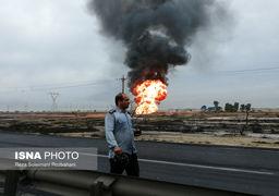 انفجار خط لوله گاز در اهواز +فیلم
