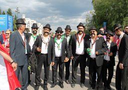 طرفداران ملک مطیعی در ورزشگاه سن پترزبورگ+عکس