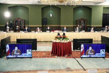 تصاویر حضور ویدئوکنفرانسی رهبری در جلسه ستاد ملی مبارزه با کرونا