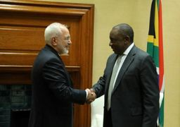 ظریف با رئیس جمهور آفریقای جنوبی دیدار کرد