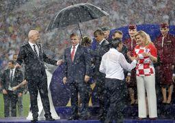 چه کسی اجازه پخش تصاویر رئیسجمهور کرواسی در اختتامیه جام جهانی را صادرکرد؟