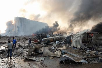فیلمی جدید از انفجار خونین بیروت