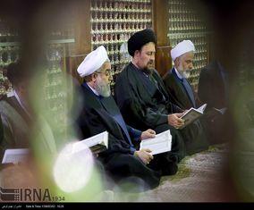 تجدید میثاق رئیس جمهوری و هیات دولت با آرمان های امام راحل