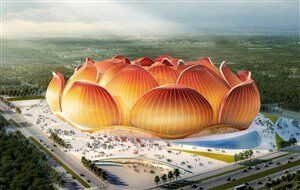 ورزشگاه زیبای چینیها برای جام جهانی/عکس