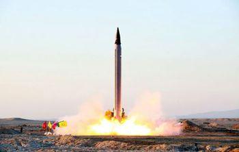 تصویر موشک ایرانی که کمتر از ۱۰ دقیقه اسرائیل را هدف قرار میدهد
