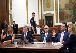 تصاویر دادگاه طلاق پسر ترامپ