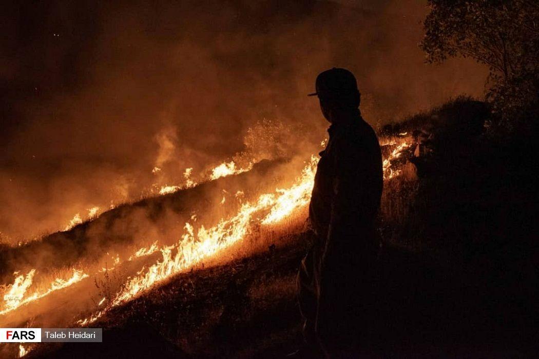تصاویر: آتش سوزی جنگلهای پاوه