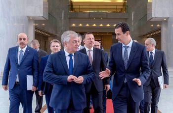 دیدار دوجانبه اسد و فرستاده ویژه پوتین