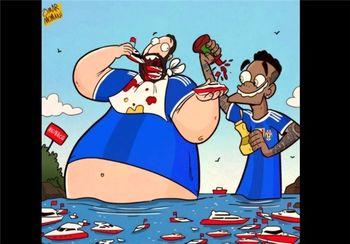 هیگواین چاق موناکو را خورد! + کاریکاتور