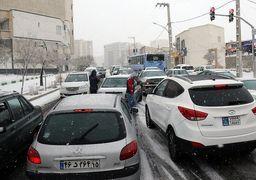 180 تصادف در تبریز به علت بارش برف
