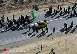 تصاویر حرکت کاروانهای پیاده حرم امام رضا (ع) در جادههای منتهی به مشهد