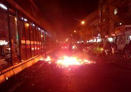 آخرین آمار دستگیرشدگان در ناآرامی های 3 روز گذشته تهران/ آتش زدن تاکسی در خیابان انقلاب