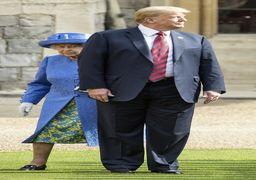 فیلم توهین ترامپ به ملکه الیزابت با زبان بدن