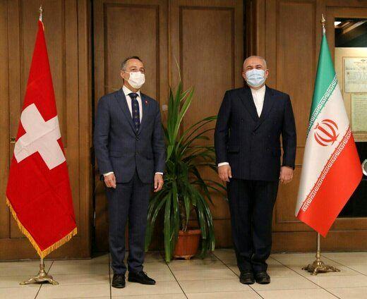 وزیرخارجه سوئیس به دیدار ظریف رفت