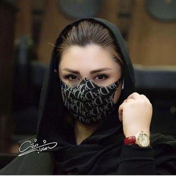ماسک متفاوت نیوشا ضیغمی در یک مراسم + عکس