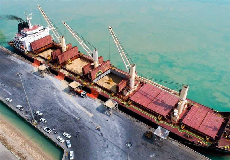 صف کشتیهای خارجی در هاب غلات ایران + فیلم