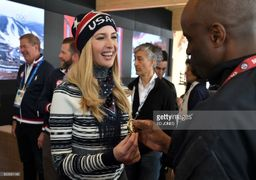 تیپ و لباس متفاوت دختر جنجالی ترامپ در المپیک زمستانی + عکس