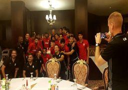 جشن تولد رضاییان در اردوی تیم ملی+ عکس