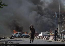 تصاویر انفجار مهیب در منطقه دیپلماتیک کابل