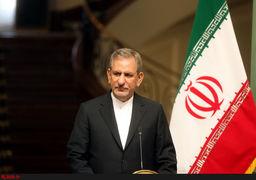 جهانگیری: اعتراضات ایران یک اقدام انقلابی نیست