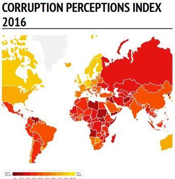 فهرست فاسدترین کشورهای جهان اعلام شد