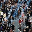 درگیری پلیس کانادا با معترضان/ شلیک گاز اشکآور +فیلم