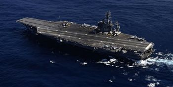 ناو هواپیمابر یواساس نیمیتز وارد خلیجفارس