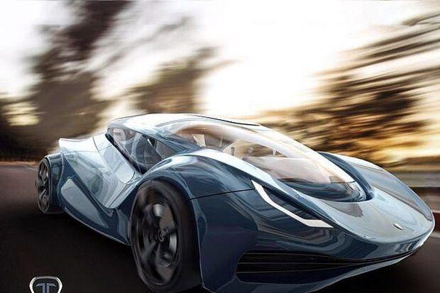 تبدیل طرح اولیه از خودروی اسپرتی به پهپاد