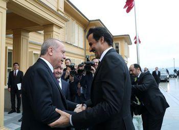 اردوغان و امیر قطر دیدار کردند