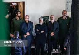 گزارش مراسم تشییع پیکر پدر سردار سلیمانی + عکس