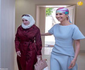 گزارش تصویری جدید از همسر بشار اسد