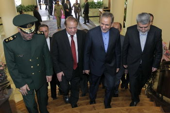 نخستوزیر پاکستان در تهران/ نوازشریف: ایران خانه دوم من است